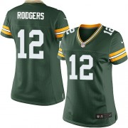 Nike Green Bay Packers 12 Women's Aaron Rodgers Elite Green Team Color Home Jersey